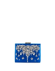 Badgley Mischka Adele Satin Clutch Saphire