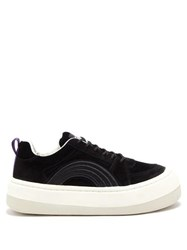 Eytys Sonic Rainbow Exaggerated Sole Suede Trainers Black