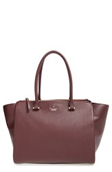 Kate Spade New York 'Emerson Place Smooth Holland' Leather Tote Burgundy Mulled Wine