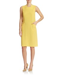 Anne Klein Pocket Shift Dress Goldenrod
