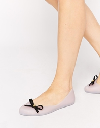 Mel By Melissa Dreaming Bow Frost Flat Shoes White