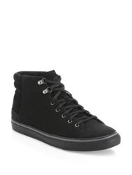 Ugg Hoyt Leather And Suede Sneakers Black