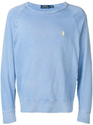 Ralph Lauren Embroidered Logo Sweatshirt Blue