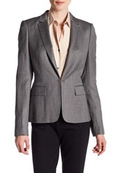 Hugo Boss Jaflink Wool Blend Blazer Gray