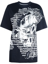 Nicopanda Graphic Print T Shirt Black