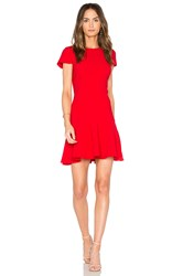Amanda Uprichard Hudson Dress Red