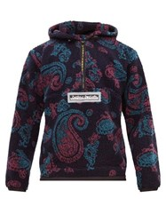 Aries Half Zip Paisley Fleece Jacket Multi