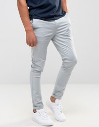 Asos Super Skinny Chinos In Blue Belgian Block