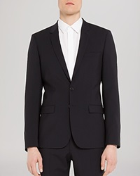 Sandro Notch Suiting Jacket Slim Fit Navy Blue