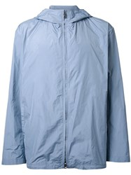 Jil Sander Hooded Jacket Blue