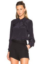 3.1 Phillip Lim Shirring At Sleeve Top In Blue