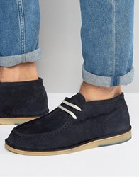 Selected Homme Ronni Suede Chukka Boots Navy