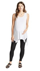 Ingrid And Isabel Maternity Handkerchief Tank Light Heather Grey