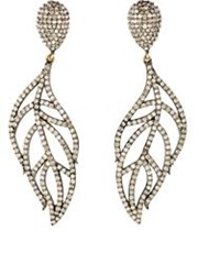 Carole Shashona Women's Angel Wing Drop Earrings Colorless