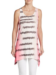 Go Couture Zebra Pocket Tank White Pink