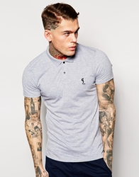Religion Jersey Polo Shirt Lightgreymarl