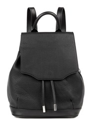 Rag And Bone Pilot Mini Grained Leather Backpack Black