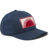 Mollusk Appliqued Cotton Canvas Baseball Cap Navy