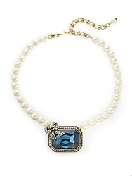 Heidi Daus Let It Sparkle Swarovski Crystal And Simulated Pearl Necklace