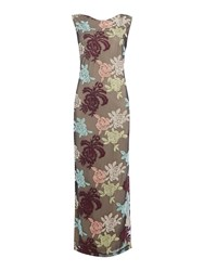 Biba Embroidered Floral Maxi Dress Multi Coloured