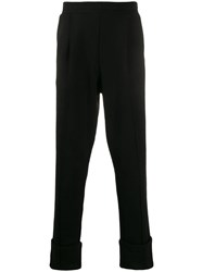 Ann Demeulemeester Upturned Hem Trousers Black