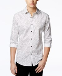Alfani Red Men's Craven Dash Print Long Sleeve Shirt Only At Macy's Bright White Multi