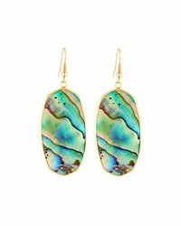 Panacea Elongated Abalone Hue Drop Earrings Multi