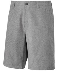 Greg Norman For Tasso Elba Men's Classic Fit Heathered Performance Shorts Only At Macy's Grey Heather