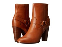 Frye Laurie Harness Short Tan Smooth Polished Veg Women's Boots Brown