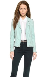 Rebecca Taylor Washed Leather Jacket Ocean Spray