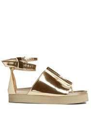 Ellery Ryme Double Ankle Strap Sandals Gold