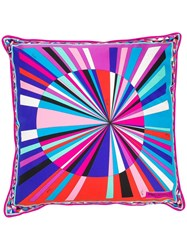 Emilio Pucci Printed Square Pillow Purple