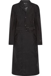 Y 3 Adidas Originals Shell Hooded Trench Coat Black