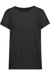 Yummie Tummie By Heather Thomson Adriana Split Back Stretch Jersey T Shirt Black