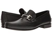 Salvatore Ferragamo Fiordi Moccasin Black Men's Shoes