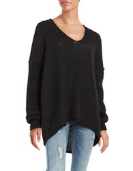 Free People All Mine Drop Shoulder Sweater Black