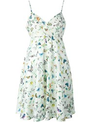Versace Vintage Butterfly Print Dress White