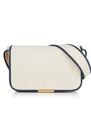 See By Chloe Flapover Piping Detail Shoulder Bag Cream Cream