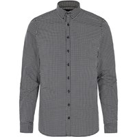 Vito River Island Mens Black Gingham Shirt
