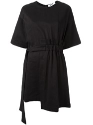 Msgm Elastic Belt Dress Black