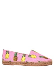 Dolce And Gabbana 20Mm Pineapple Print Brocade Espadrilles
