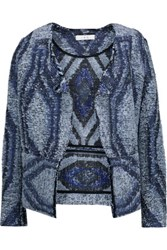 Iro Lee Boucle Tweed Jacket Navy