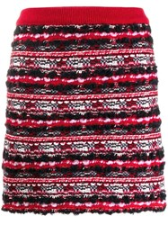 Thom Browne Woven Mini Skirt Red