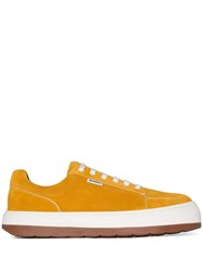 Sunnei Yellow Dreamy Leather Sneakers