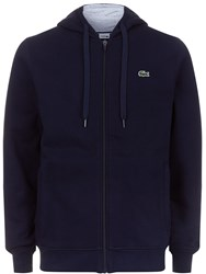 Lacoste Men's Hooded Fleece Sweatshirt Navy Metallic