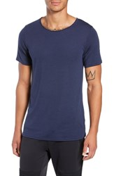 Alo Yoga Ultimate T Shirt Solid Navy Triblend