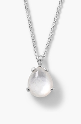 Ippolita 'Rock Candy' Teardrop Pendant Necklace Silver Mother Of Pearl