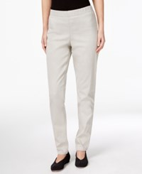 Eileen Fisher Pull On Stretch Denim Pants Cement