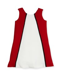 Helena Colorblock A Line Dress Size 2 6 White Red