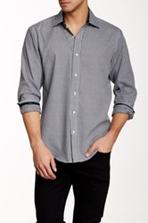 Bristol And Bull Black And White Check Long Sleeve Modern Fit Shirt